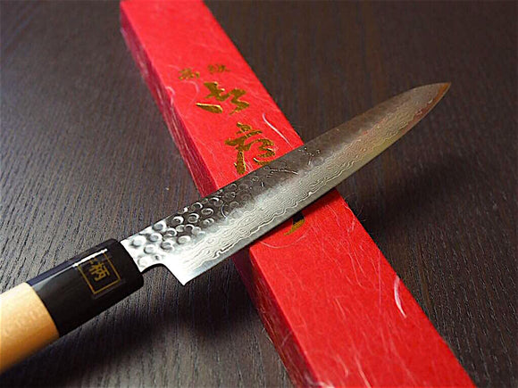 "Sakai Jikko ""Wa-Gyuto"" Chef's Knife VG10 Core and Damascus Steel with hammered finish (21cm/24cm)"