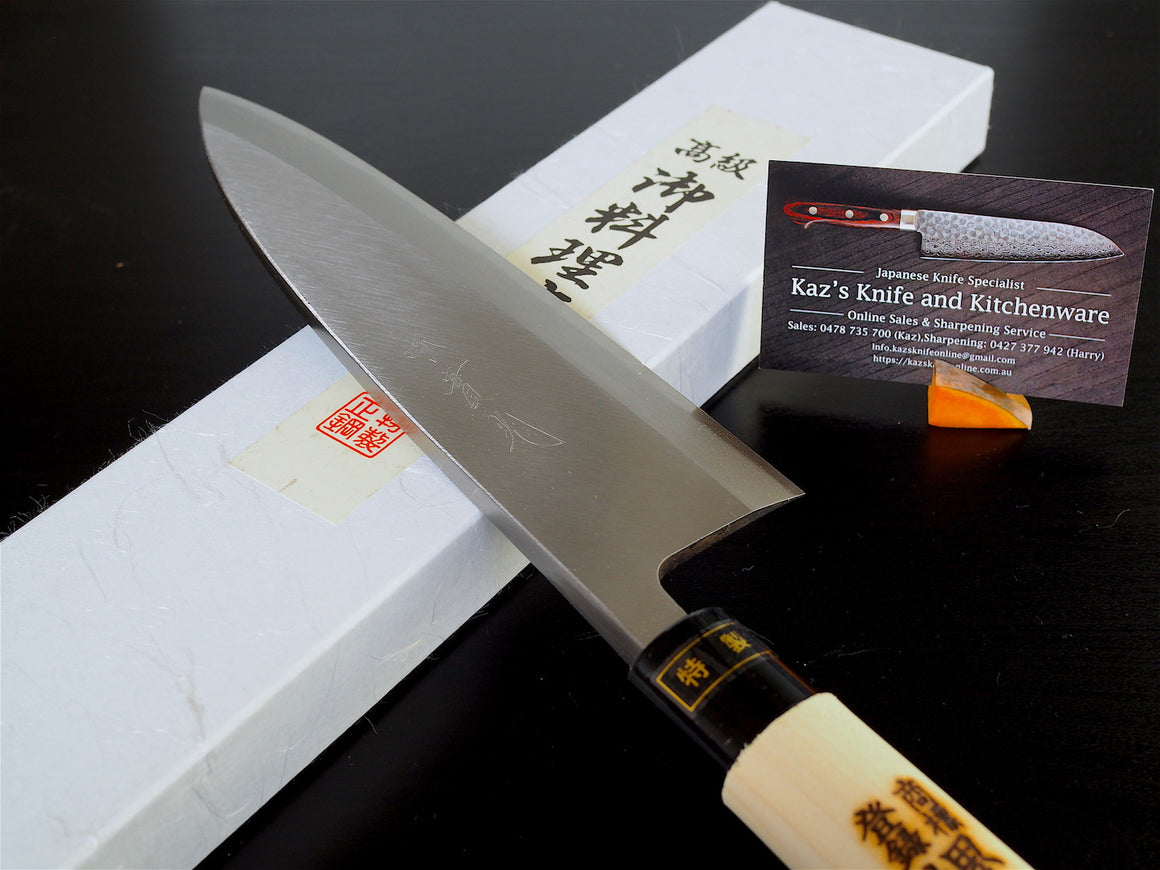 "Sakai Jikko ""Deba"" Fish Filleting Knife-Standard Japanese Carbon Steel (18cm)-1"