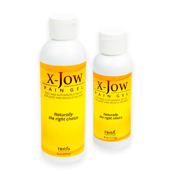 X-Jow Pain Relief Gel: Combo Pack: One for the house, one for the road/ gym bag (4 oz 8 oz ).