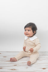 Zippered Sleepsuit - Oatmeal