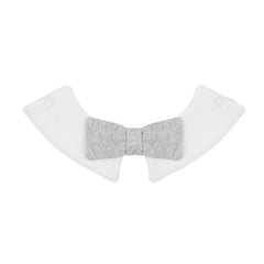 Bow Tie Collar - Grey