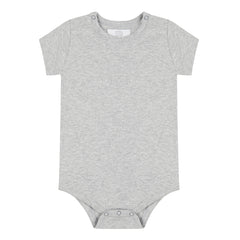 Short Sleeved Bodysuit - Grey