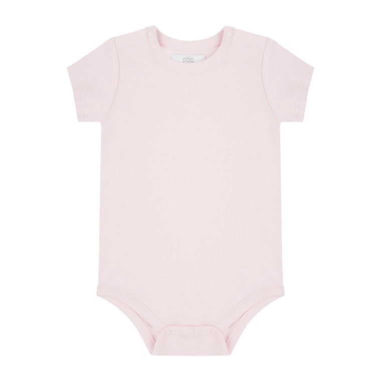 Short Sleeved Bodysuit - Pink