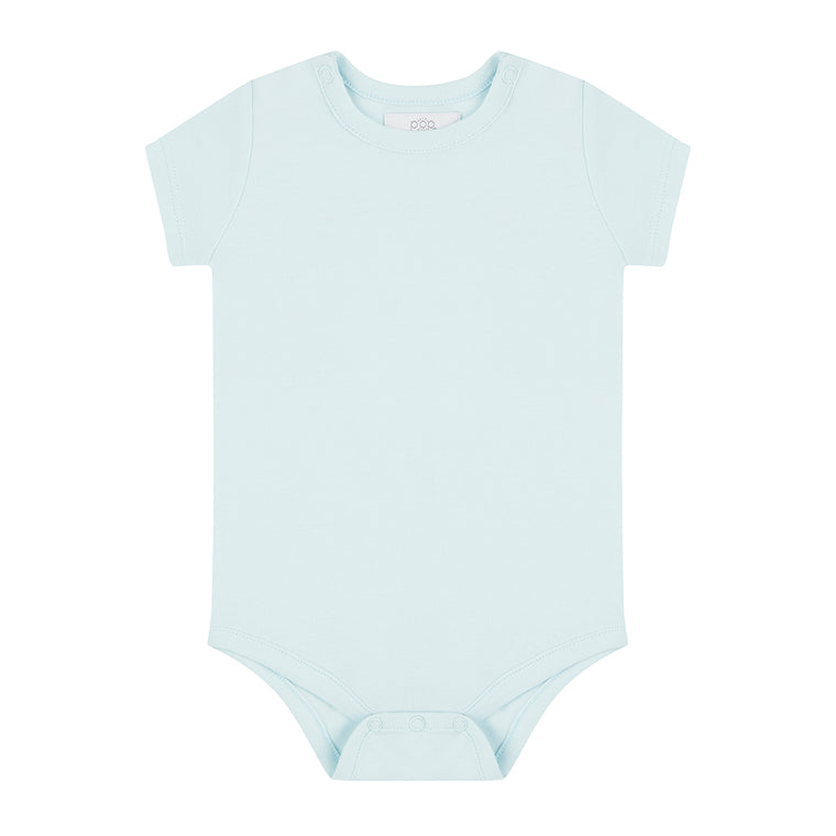Short Sleeved Bodysuit - Sky Blue