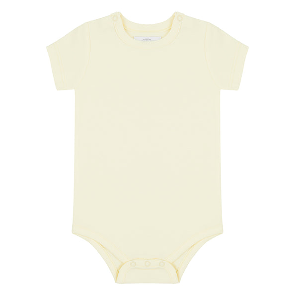 Short Sleeved Bodysuit - Lemon