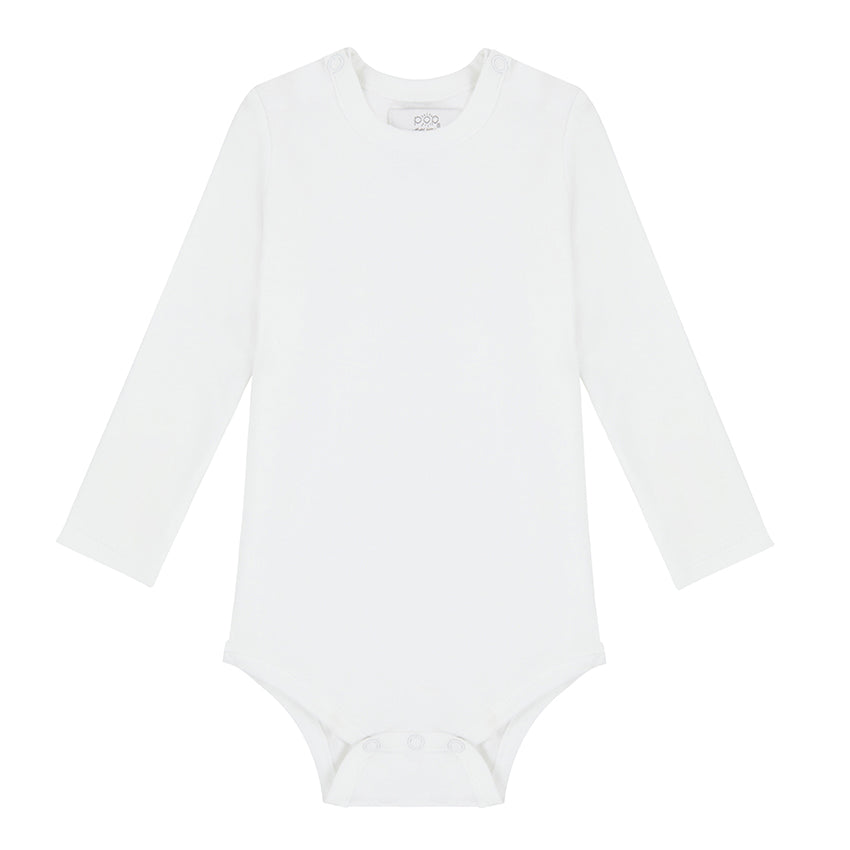 Long Sleeved Bodysuit - White