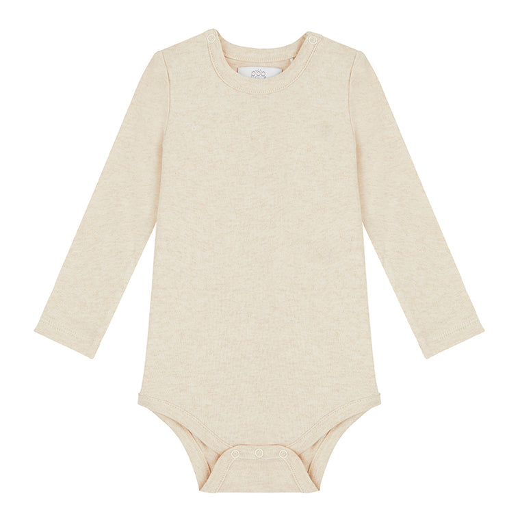 Long Sleeved Bodysuit - Oatmeal