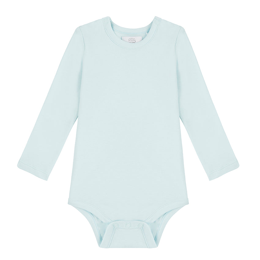 Long Sleeved Bodysuit - Sky Blue