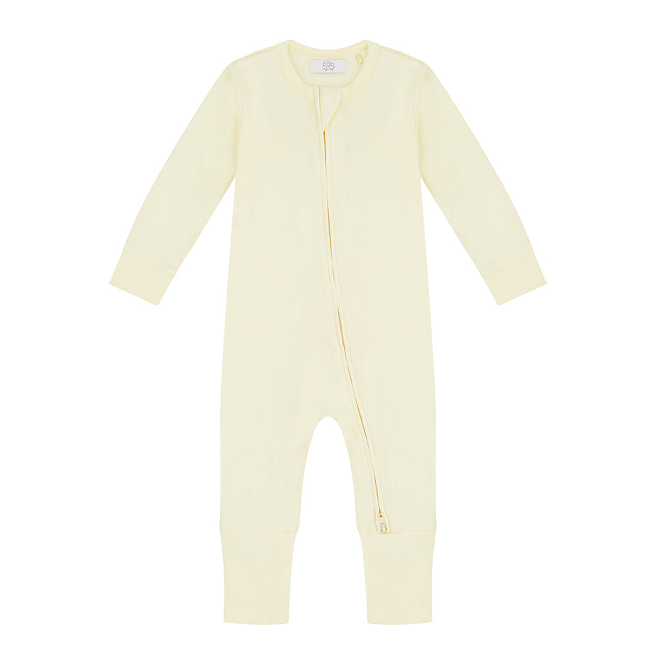 Zippered Sleepsuit - Lemon
