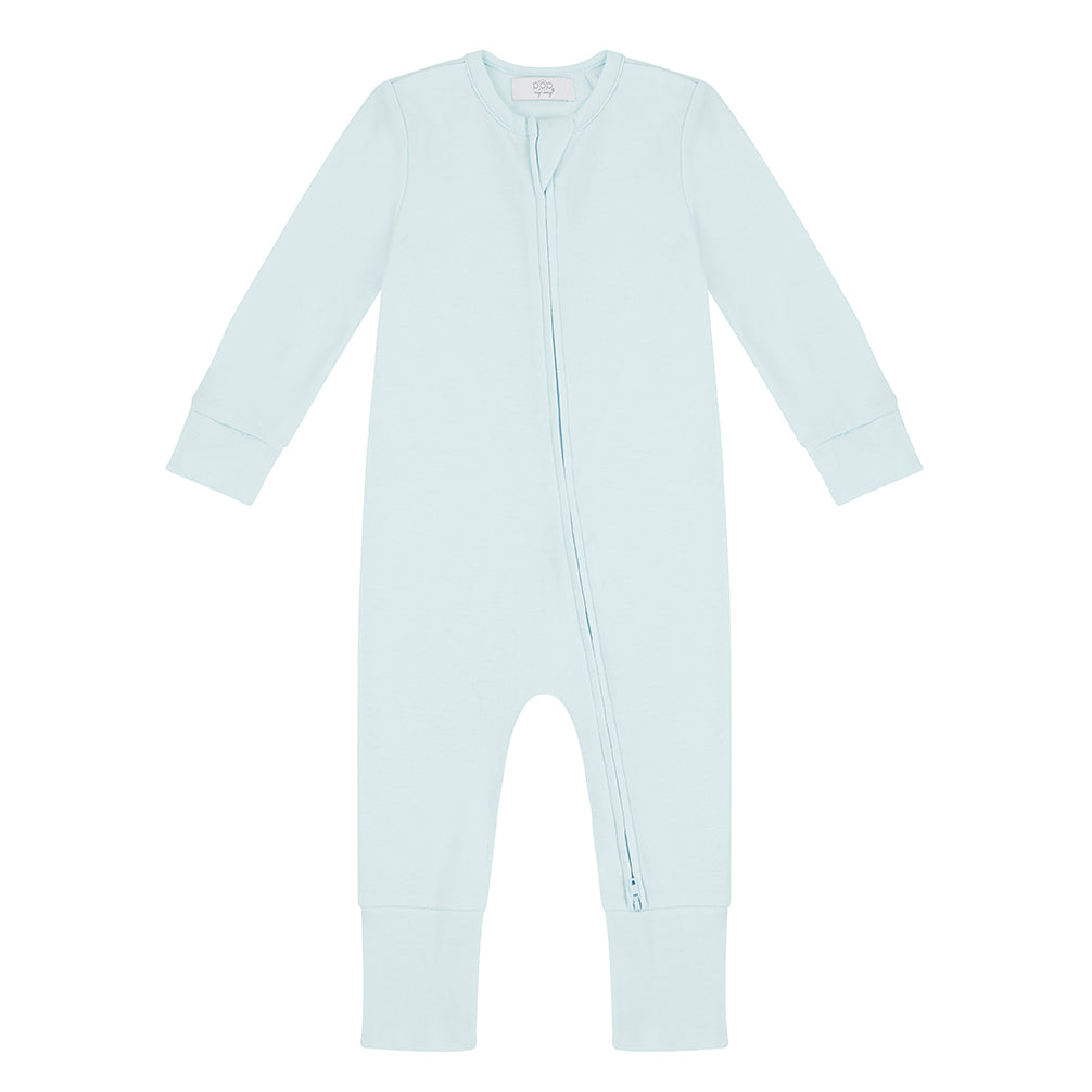 Zippered Sleepsuit - Sky Blue