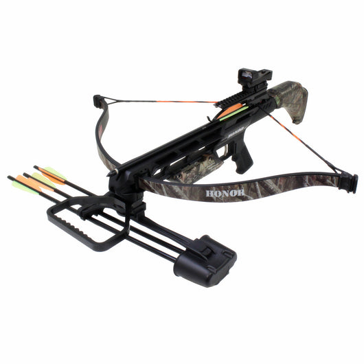 SAS Honor 175lbs Recurve Crossbow Red Dot Scope Package w/ Quiver - Open Box