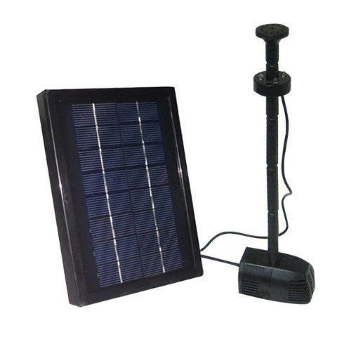 ASC 2.5 Watts Solar Water Pump Garden Pool Pond Kit with LED Lights - Open Box