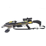SAS Authoirity 175lbs Crossbow 4x32 Scope + Case + Carbon Arrows + Broadheads