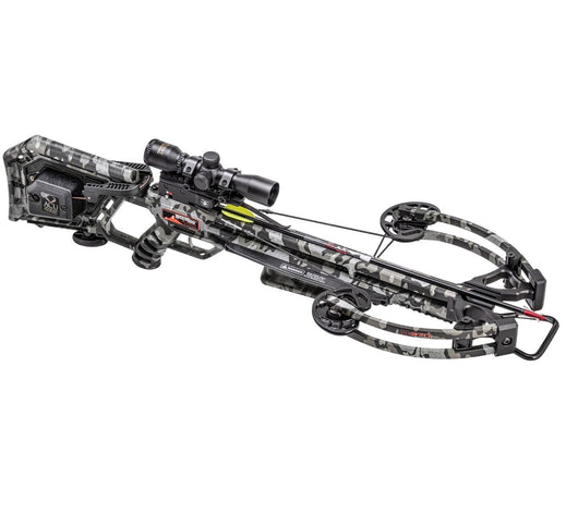 Wicked Ridge M-370 ACUdraw/Rope-Sled Multi-Line Scope Crossbow Package-Peak Camo