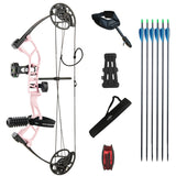 SAS Supreme Youth Compound Bow Package 290 FPS Hunting Target with Arrows Quiver