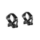 Hawke Precision Steel Ring Mounts 34mm High with Lever/Low with Lever - Black