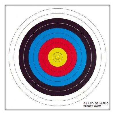 30-06 Outdoors 10 Ring Archery Crossbow Paper Target Face - 6/Pack