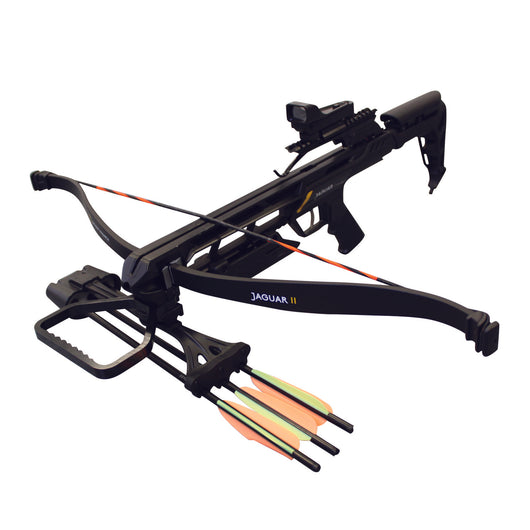 SAS Jaguar II 175lbs Recurve Crossbow Red Dot Scope Package Black - Open Box