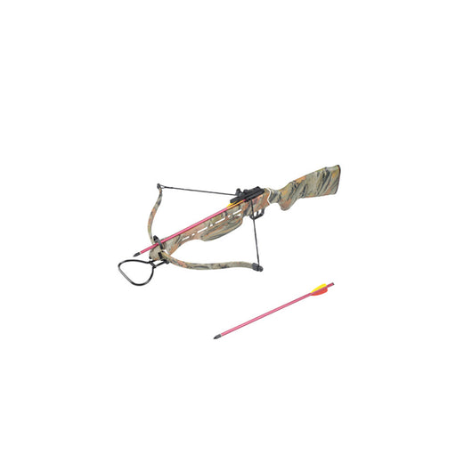 150 lbs Hunting Crossbow Real Wooden Stock Camo Green - Open Box