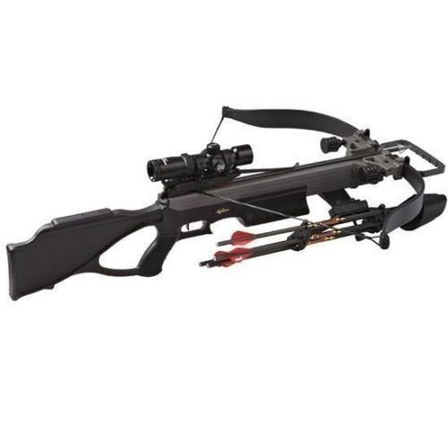 Excalibur Matrix 380 Blackout Tact-Zone Lite Stuff Crossbow Package 380 FPS