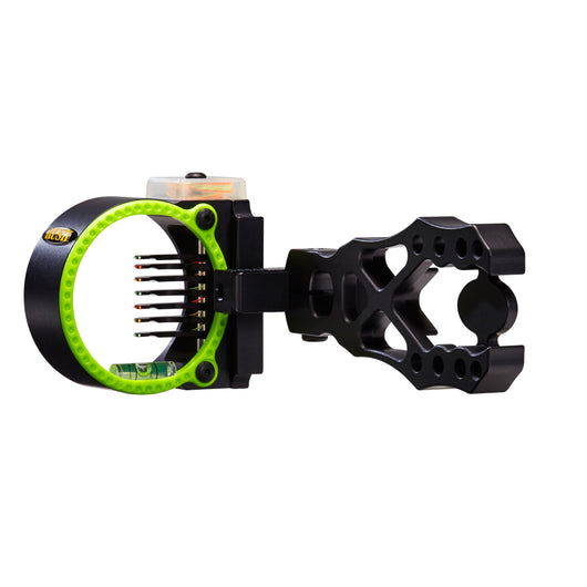 Black Gold Flash Point Rush Archery Compound Bow Sight 7-PIN - Black