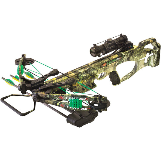 PSE Fang Series XT Compound Crossbow with Scope and Arrows 2018 Improved Trigger