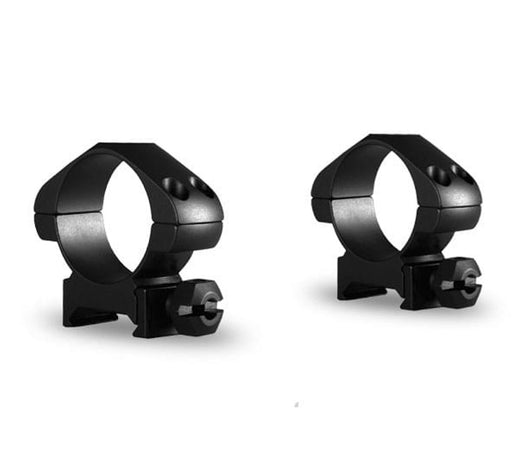 Hawke Precision Steel Ring Mounts 2 Piece Weaver with Nut - Black