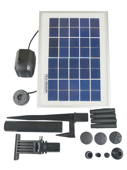 ASC Solar Water Pump Kit 3 Watt with Battery Timer and LED Light - Open Box