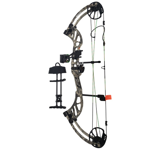 Bear Archery Enticer Compound Bow w/ Accessories 40-70 Lbs LH - Veil Alpine Camo