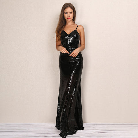 Chic Sequined Gown