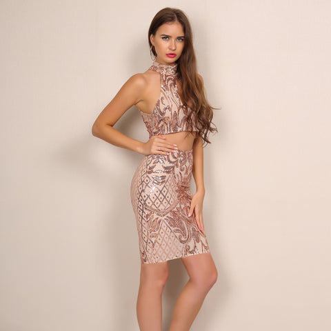 Sequin Two Piece