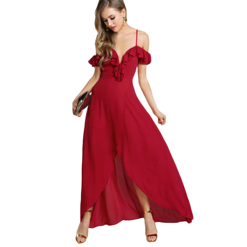 Sweetheart Maxi Red Dress