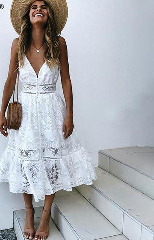 Cool and Collected White Dress