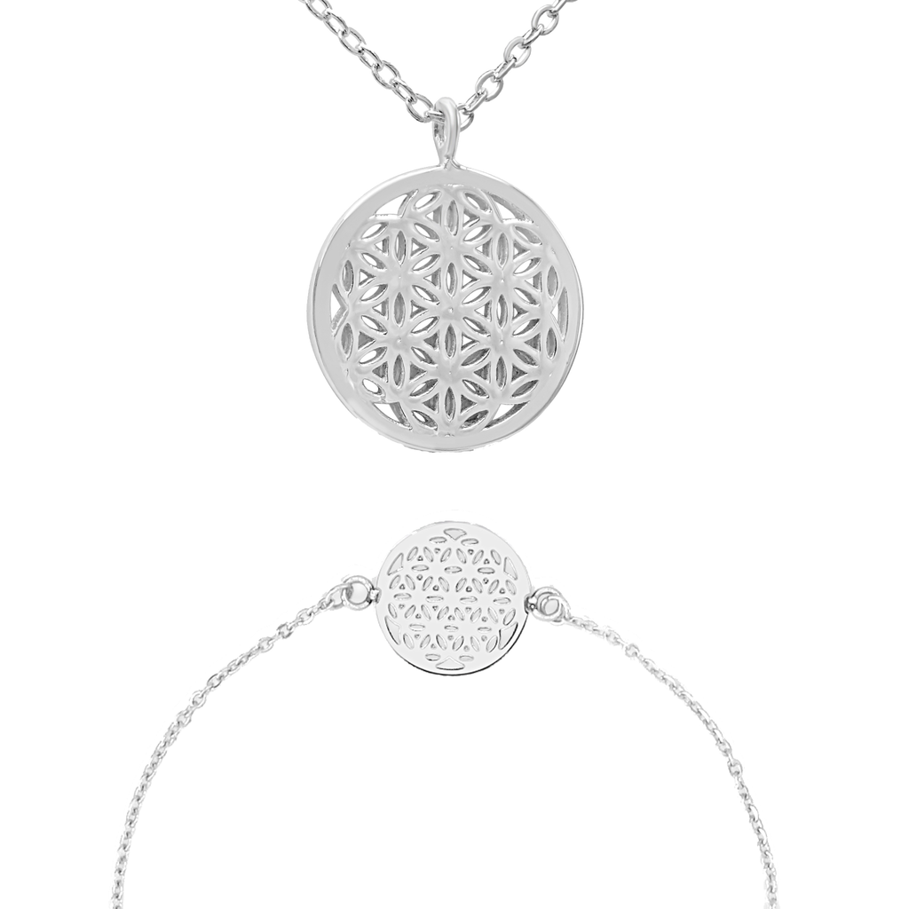 Flower of Life - Halskette & Armband Set