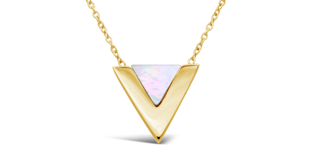 "Halskette ""Triangle Shell"""