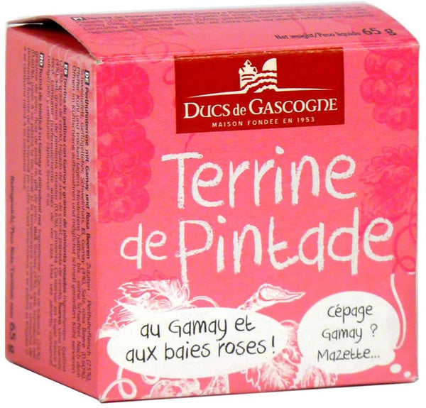 Guinea fowl terrine with Gamay and pink berries 65g Ducs de Gascogne