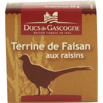 French pheasant terrine with currants Ducs de Gascogne 65g