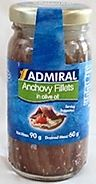 Admiral Anchovy Fillets In Olive Oil 90g