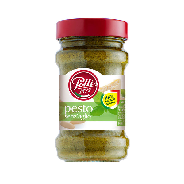 Polli Senzaglio Pesto (Basil Pesto without Garlic ) 190g