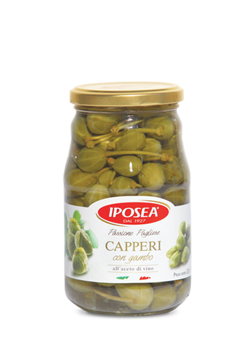 Iposea Capers with Stems 580g