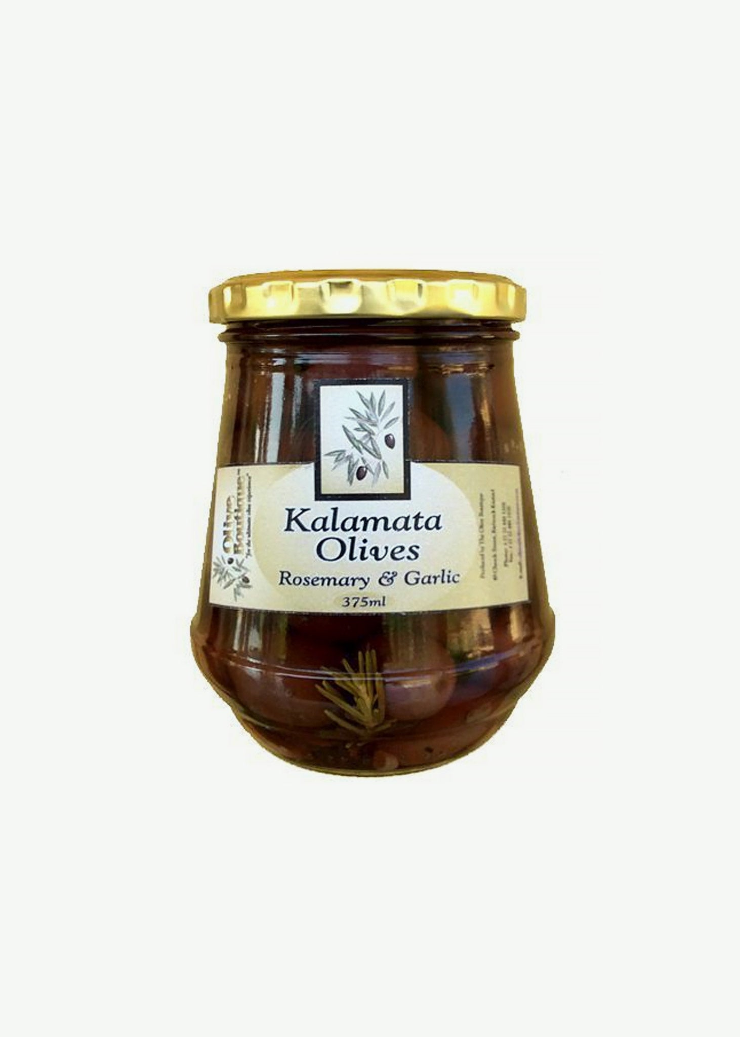 Kalamata Black Olives with Rosemary and Garlic  375ml