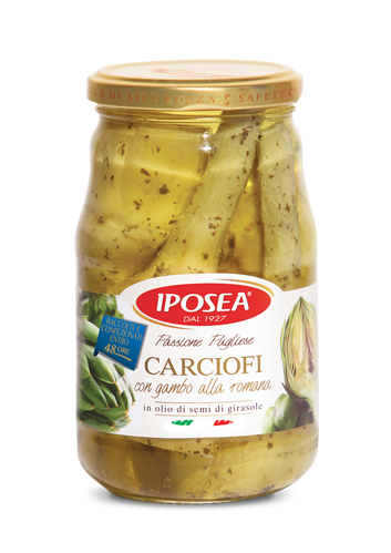 Iposea Artichokes with Stems in Sunflower Seed Oil 510g
