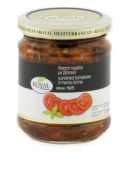 Royal Sundried Tomatoes in Herbs and Brine 215g