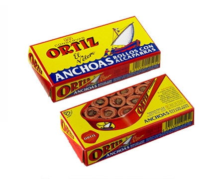 Conservas Ortiz Anchovies and Capers 50g