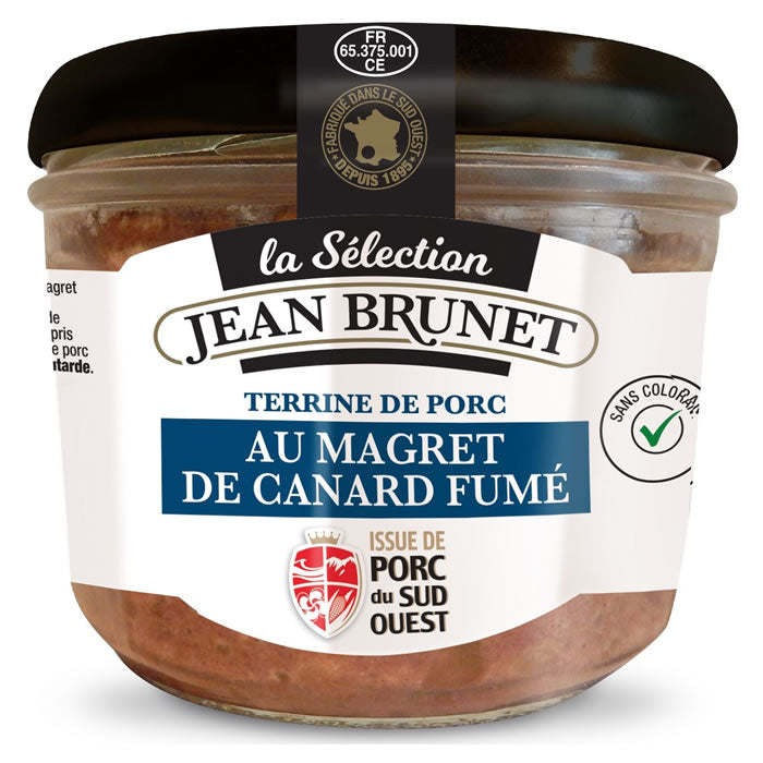Jean Brunet Pork Pate with Smoked Duck Breast Fillett 180g