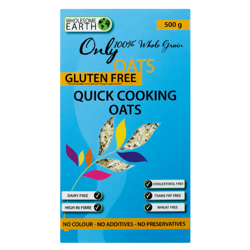 Wholesome Earth Gluten Free Quick Cooking Oats 500g