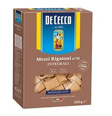 De Cecco Integrale (Whole Wheat) Mezzi Rigatoni no26