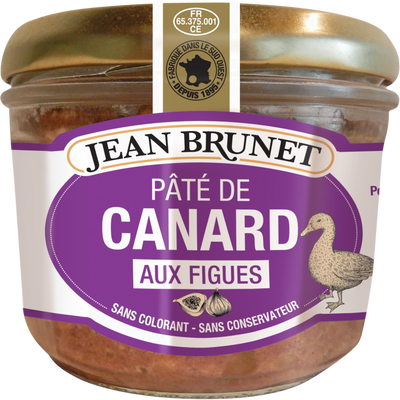 Jean Brunet Pate de Canard Aux Figues (Duck Pate with Figs) 90g