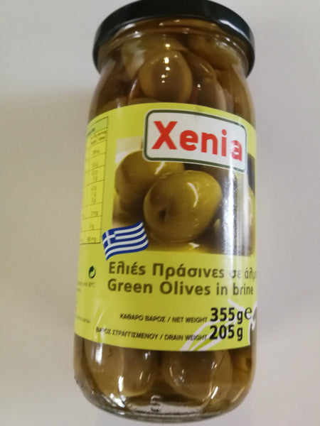 Xenia Green Olives in Brine 355g
