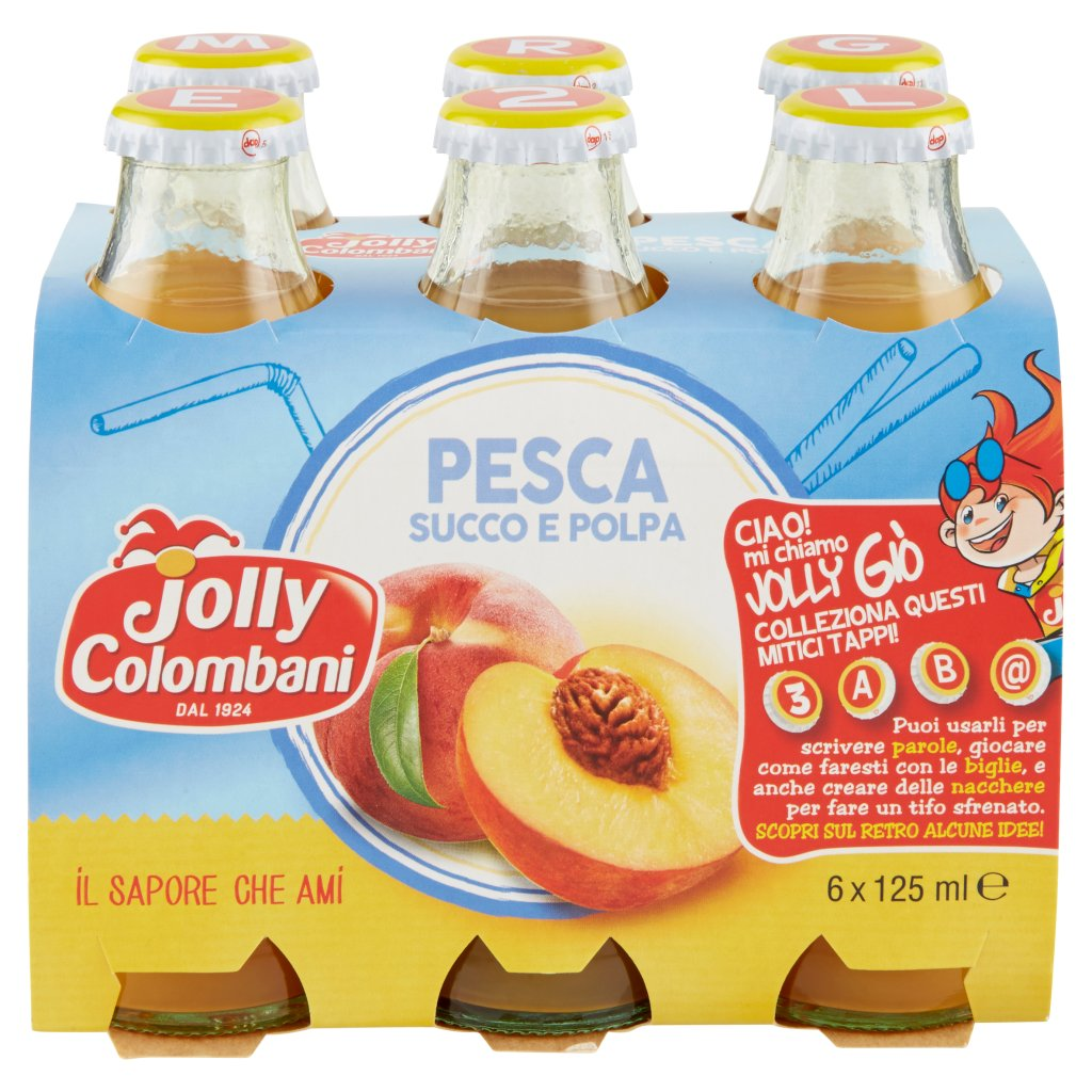 Jolly Colombani Peach Juice 125ml